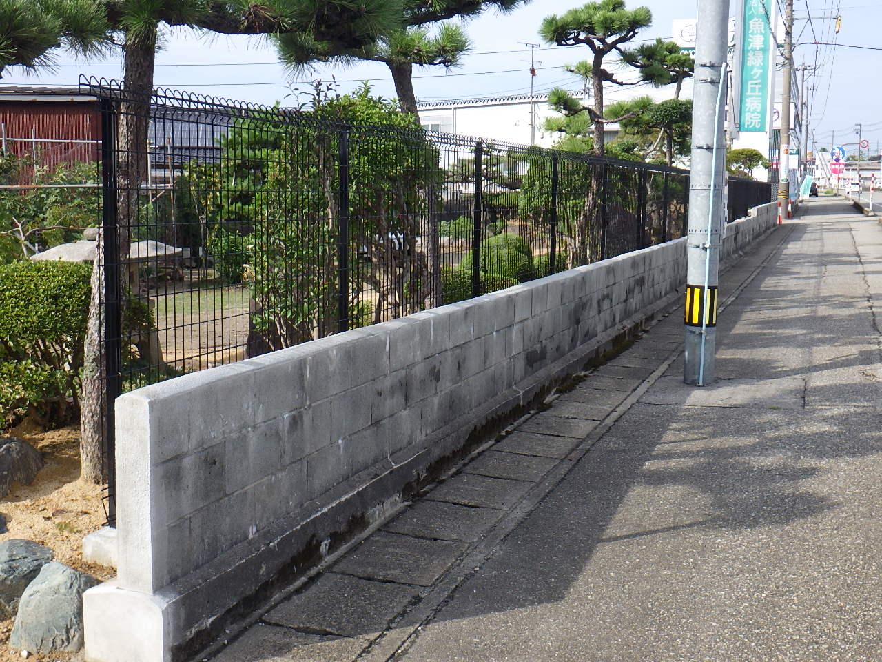 2018年 M様邸ブロック塀メンテナンス